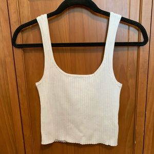 PacSun white ribbed tank top